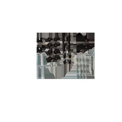 Komplett skruvset Flexxy enkelbur (reservdel)