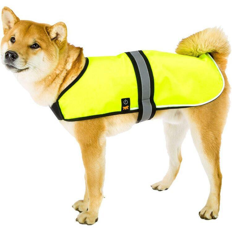 Reflexväst till hunden med inbyggd LED-belysning