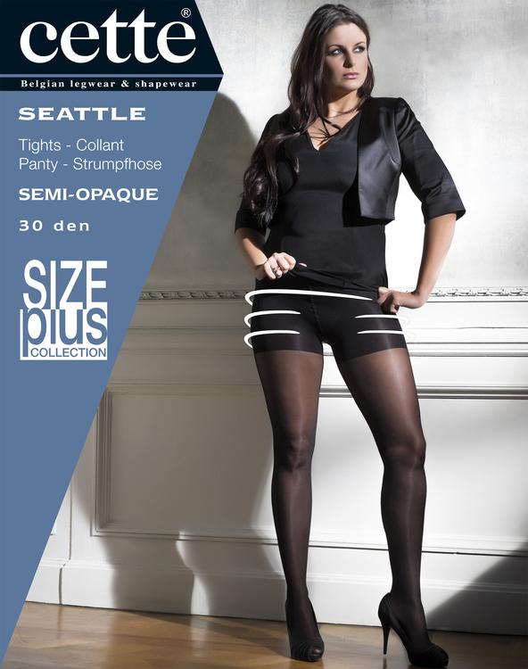 Strumpbyxa med stödbyxa 30 den svart -  Seattle 2XL