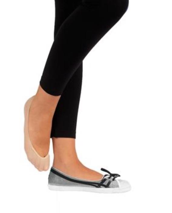 Ballerina Footies 2-pack i bomull brun  stl 39-42