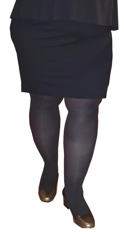 stora strumpbyxor svarta plus size