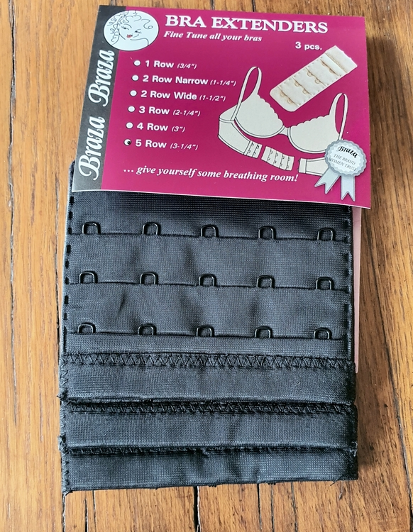BH förlängare 5 rader svart färg från Braza