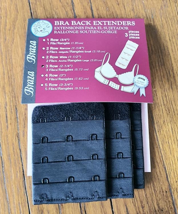 BH förlängare 3 rader i svart färg från Braza