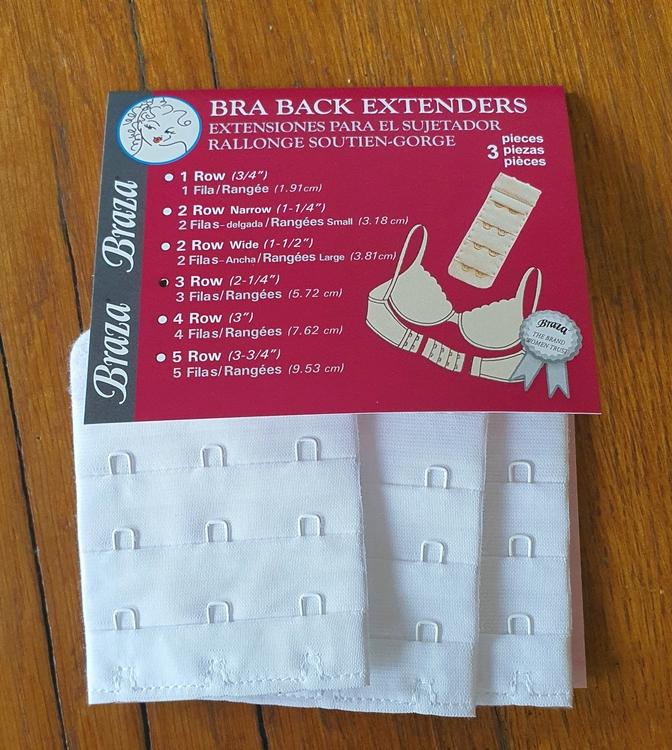 BH förlängare 3 rader i vit färg från Braza