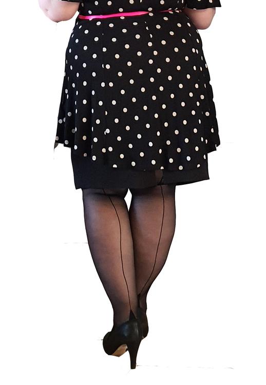 Stay Up Couture med synlig söm 20 den Large svart