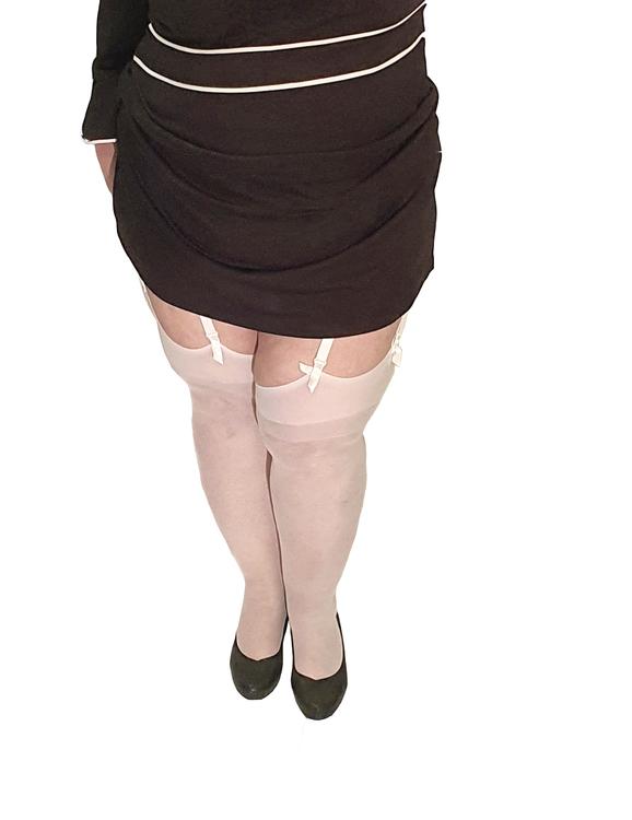 Stockings Large vit