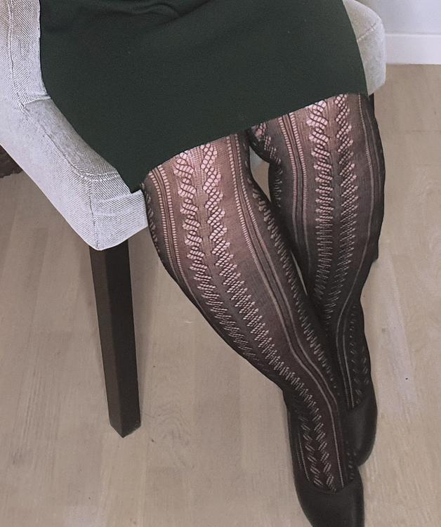 Strumpbyxa i bomull med stickat mönster 40 den Avignon 2 XL