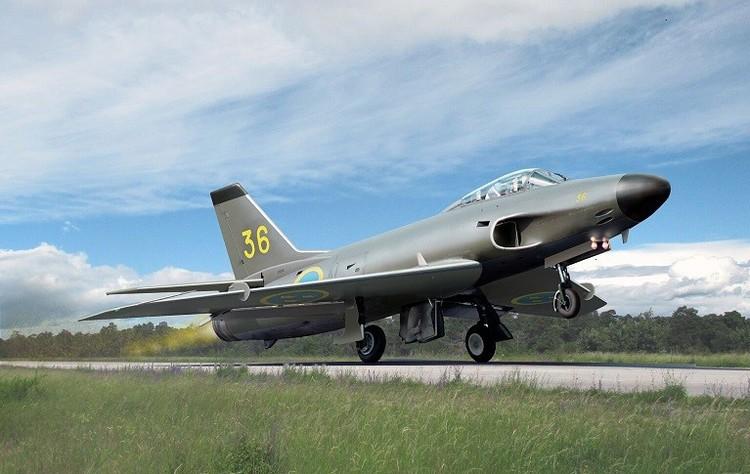 SAAB J32B Lansen fighter 1/72