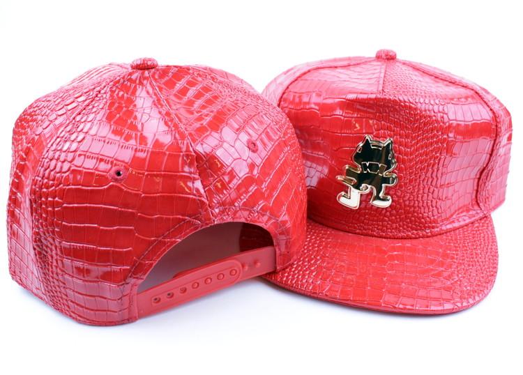 Keps Snakeskin Cat röd