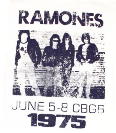 Ramones CBGB baseballshirt