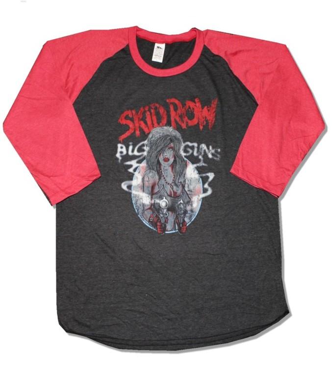 Skid row Big guns baseballshirt