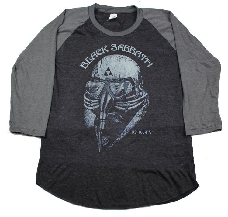 Black sabbath US tour-78 baseballshirt