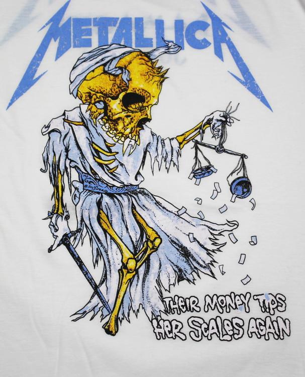Metallica The money tips her scales again baseballshirt