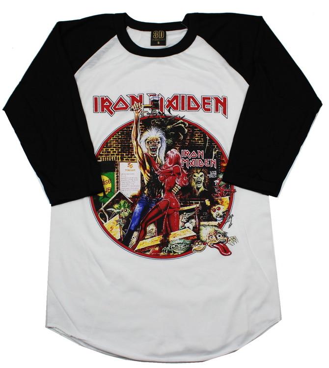 Iron maiden Bring your daughter to the slaughter baseballshirt
