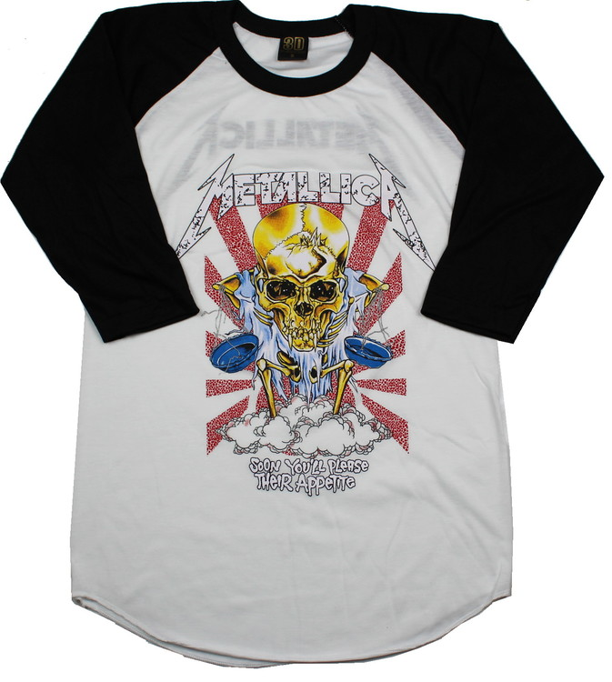 Metallica Soon you´ll please their appetite baseballshirt