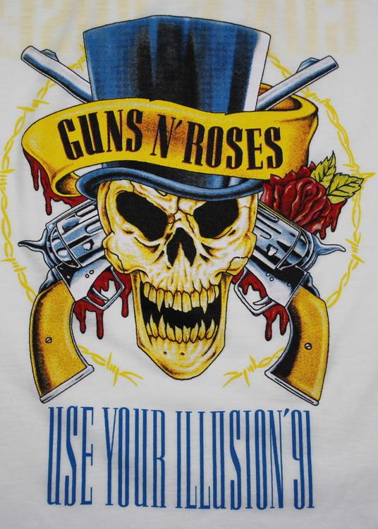Guns n roses   Use your illiusion baseballshirt