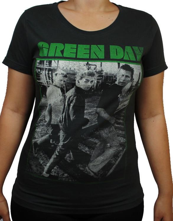 Green day Girlie t-shirt
