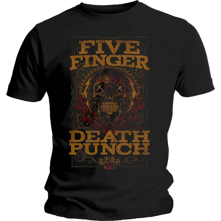 """Five Finger Death Punch """"Wanted"""" T-shirt"""