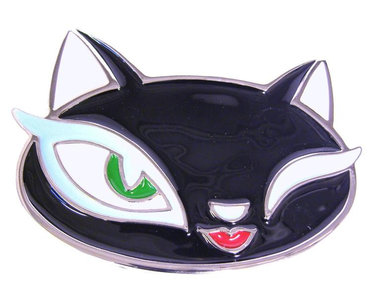 Evil kitten bälte svart