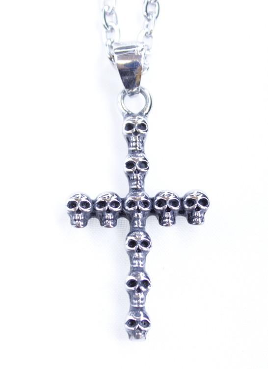 Halsband Cross/skulls