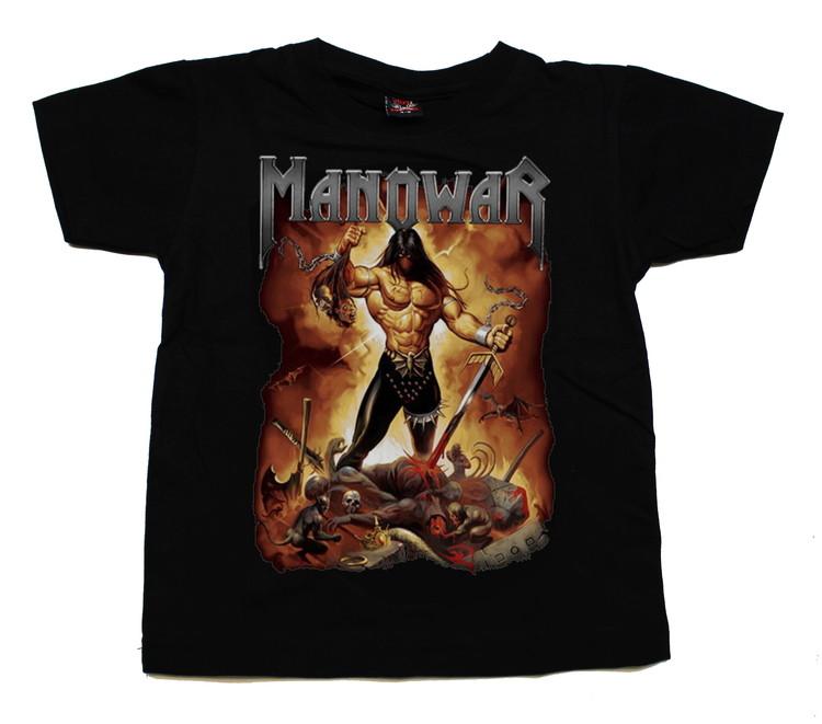 Manowar Fire and blood barn t-shirt