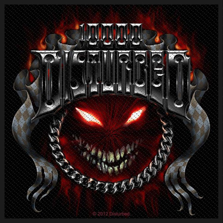 Disturbed 'Chrome Smiley' Patch