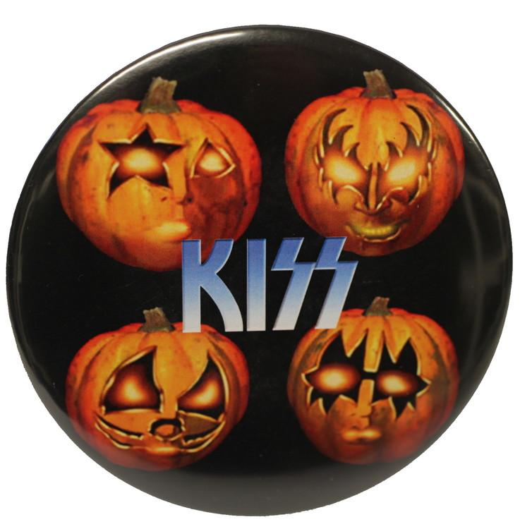 Kiss pumpkin XL badge