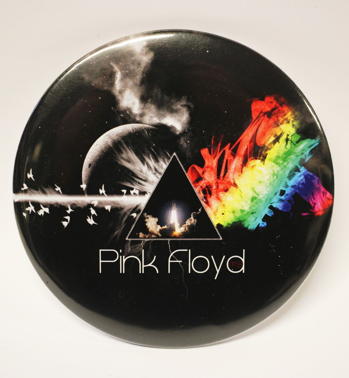 Pink floyd dark side of the moon XL badge 2