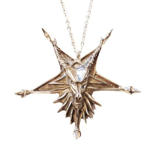 Halsband satanic goat pentagram dragon claws