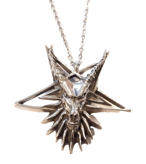 Halsband satanic goat pentagram