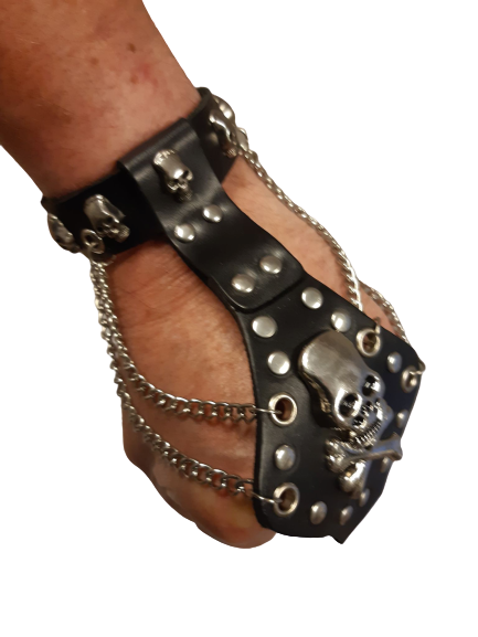 Armband skull/chains