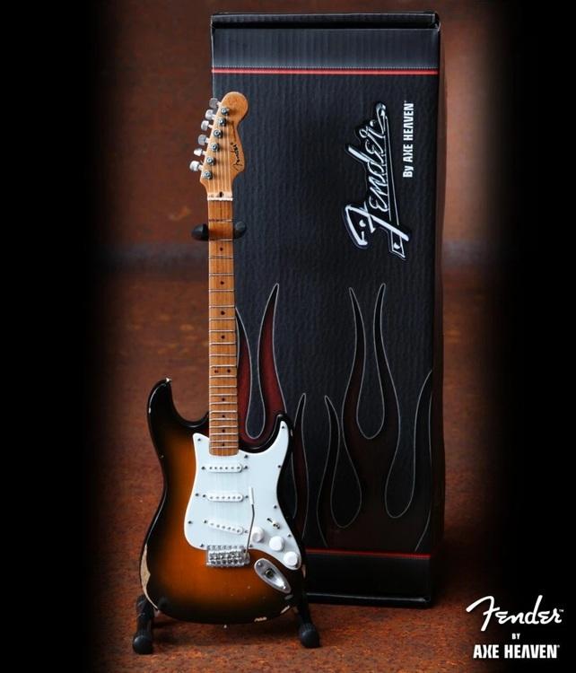 Sunburst Road Worn™ Fender™ Strat™ Miniature Guitar Replica