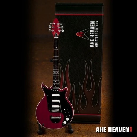 """Brian May Signature """"Red Special"""" Miniature Guitar Replica Collectible"""