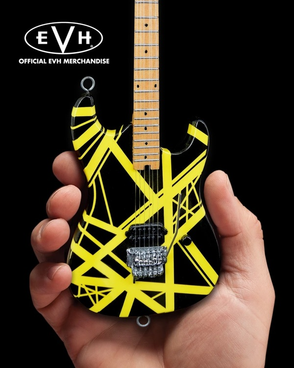 "EVH Black & Yellow VH2 ""Bumblebee"" Eddie Van Halen Mini Guitar Replica Collectible"