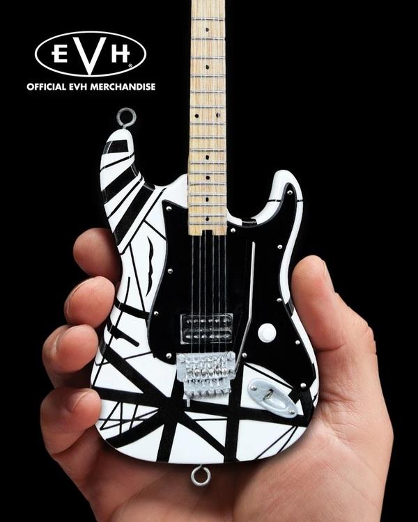 EVH Black & White VH1 Eddie Van Halen Mini Guitar Replica Collectible
