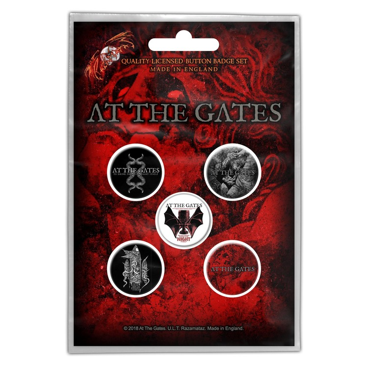 At The Gates 'To Drink From The Night Itself' Button Badge 5-Pack