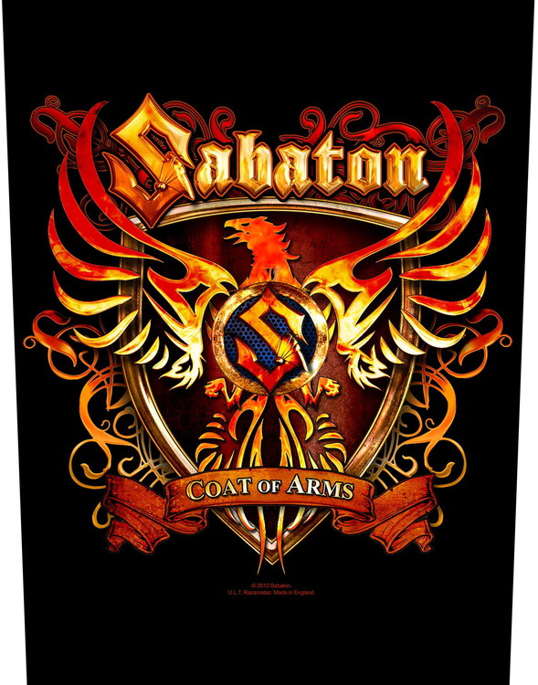 Sabaton 'Coat Of Arms' Backpatch