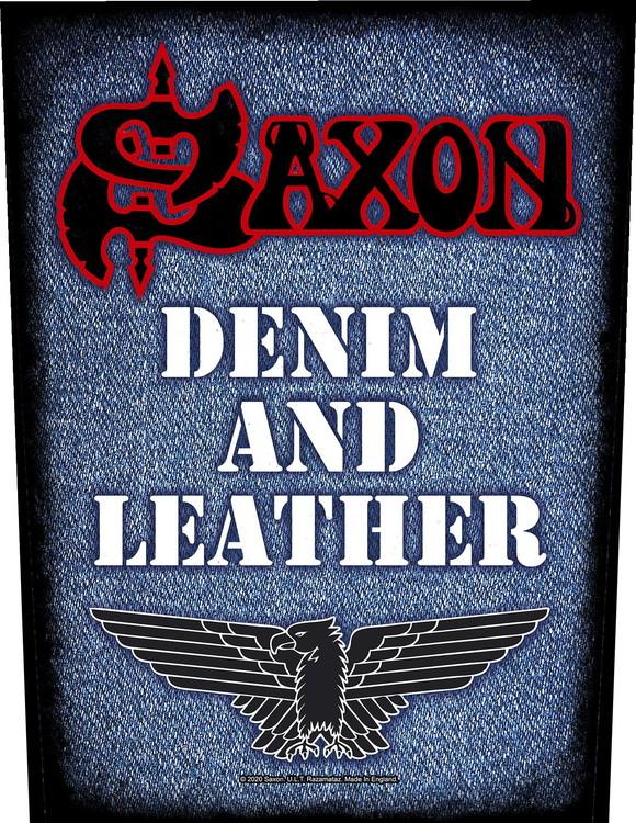 Saxon 'Denim & Leather' Backpatch