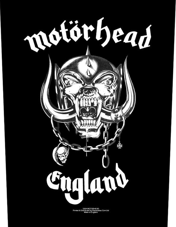 Motörhead Back Patch: England