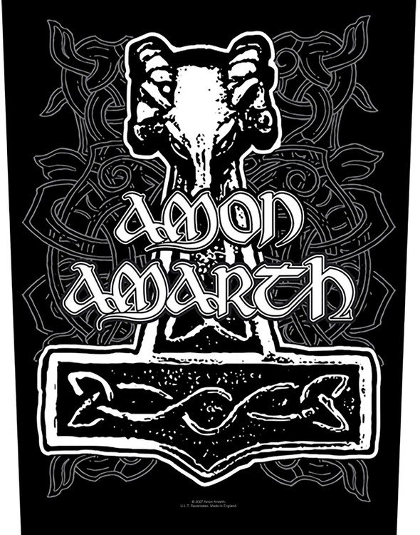 Amon amarth Back Patch Hammer