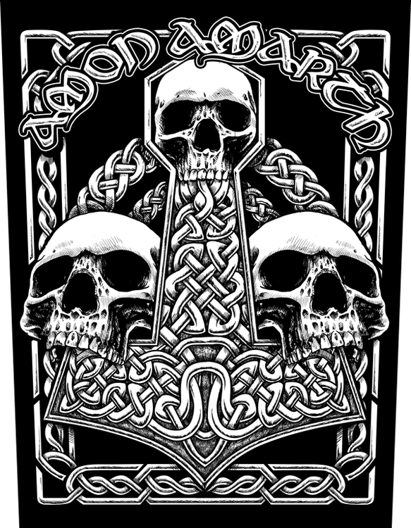 Amon Amarth 'Three Skulls' Backpatch