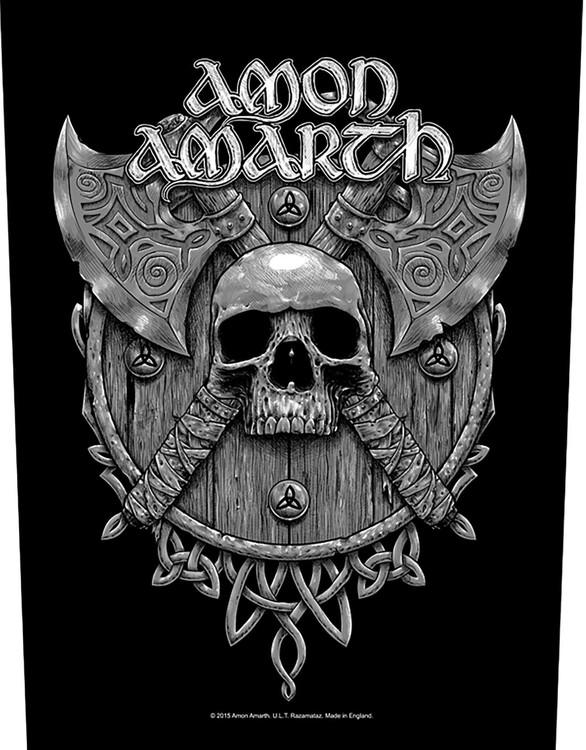 Amon Amarth 'Skull & Axes' Backpatch