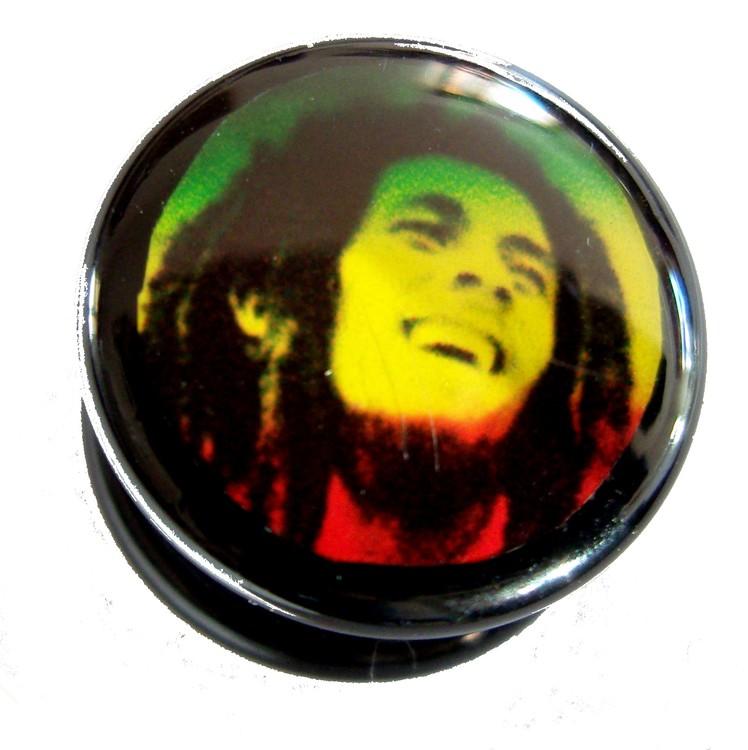 Akrylplugg Bob Marley 6-20mm