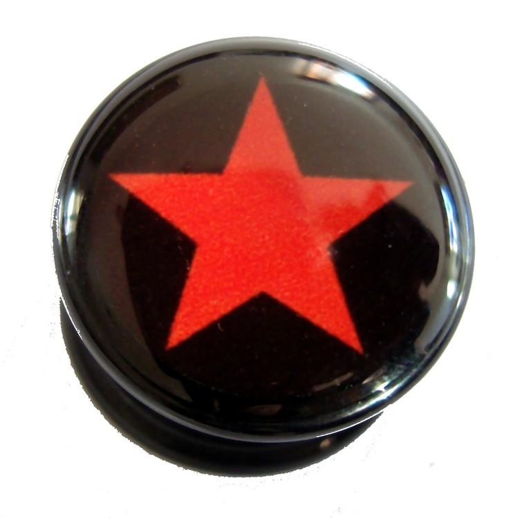 Akrylplugg Red star 6-20mm