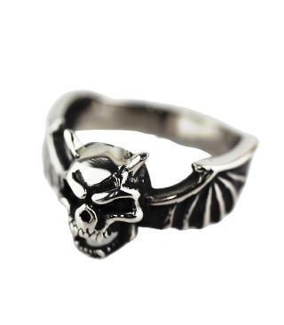 Ring skull/wings small