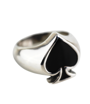 Ring ace of spades