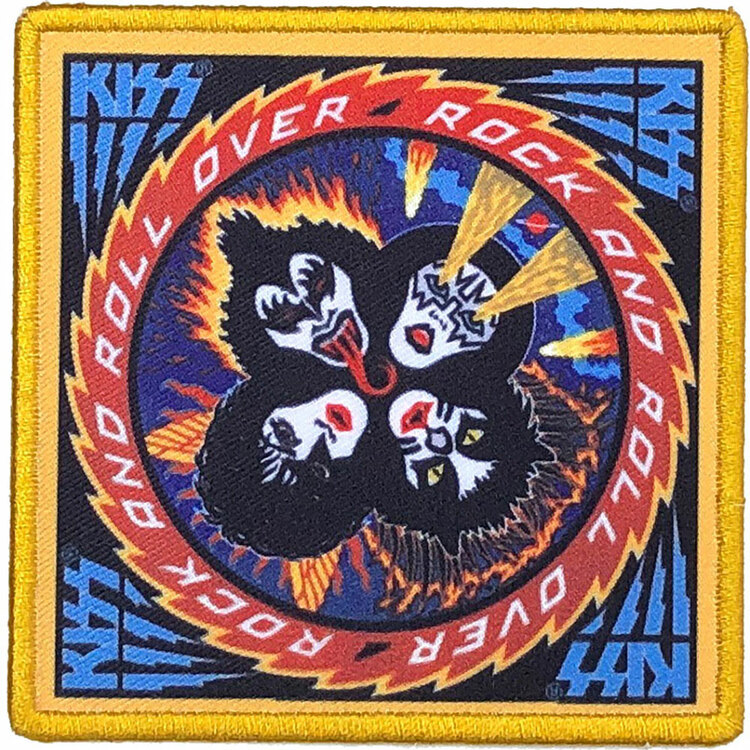 KISS Standard Patch: Rock And Roll Over