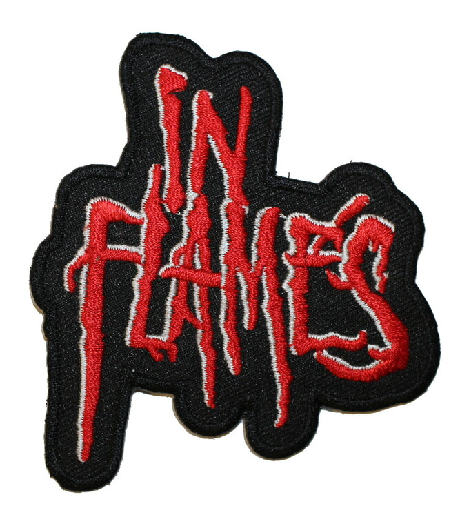 In flames red logo