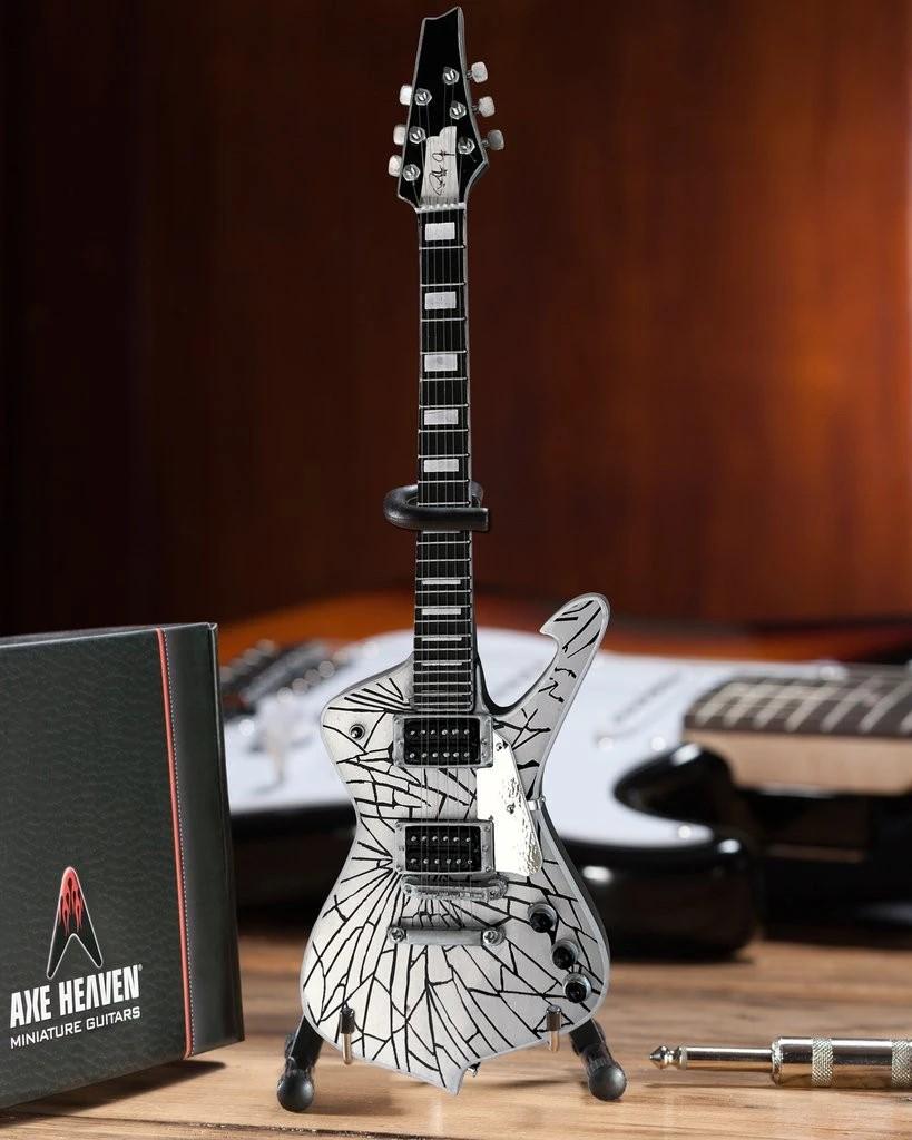 KISS Paul Stanley Cracked Mirror Iceman Miniature Guitar Model