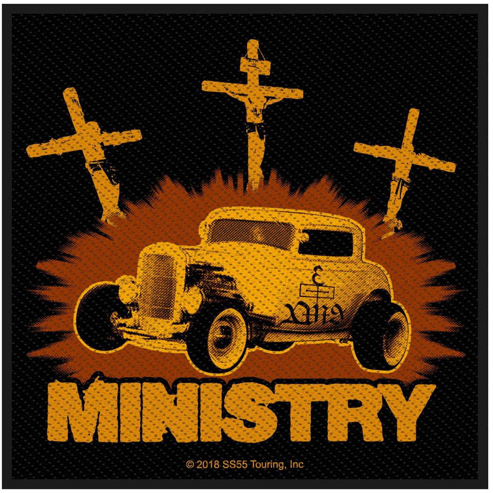MINISTRY - Jesus built my hotrod  patch
